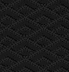 Black textured plastic corners in row vector