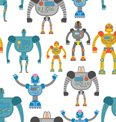 Cyborgs seamless pattern background of lovely vector