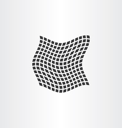 Distorted dot halftone square background vector