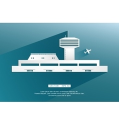 Airport terminal landscape air crafts vector