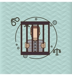 Jail icon design vector
