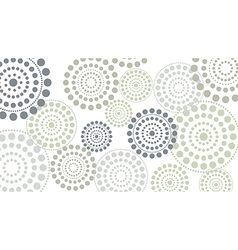 Dotted circles horizontal vector