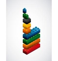 Piece of lego icon game design graphic vector