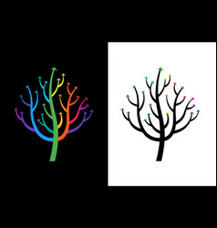 abstract growing arrow tree that symbolizes vector image vector image