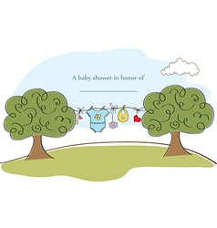 baby shyower card vector image