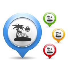 Beach Icon vector image vector image