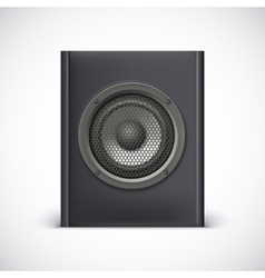 Black sound speaker vector image vector image