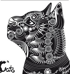 cat black silhouette vector image vector image