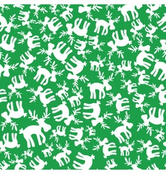 christmas reindeer green and white pattern eps10 vector image vector image