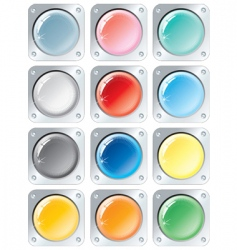 colors buttons vector image vector image