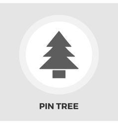 Conifer icon flat vector