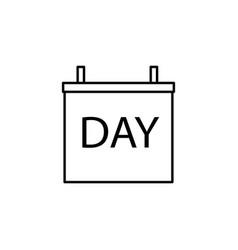 daily calendar icon vector image