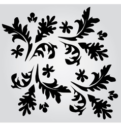 floral swirls vector image