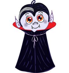 Halloween vampire character vector