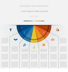 Infographic color semicircle seven positions vector image vector image