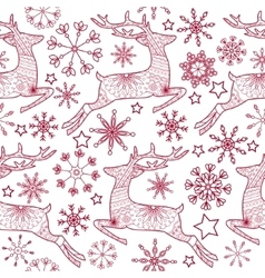 Jump deer seamless pattern vector image