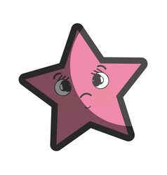 Kawaii surprised and cute star design vector