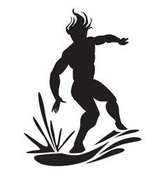 man water surfing vector image vector image