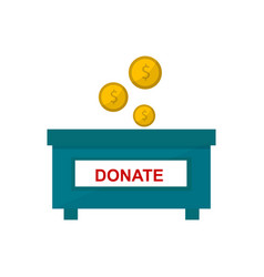 Money donate box vector