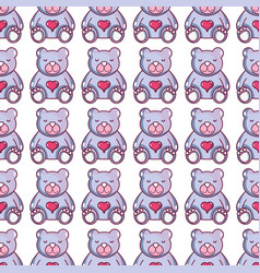 Nice teddy bear toy to game background vector