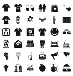 Polo icons set simple style vector