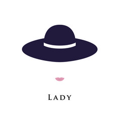 portrait of a lady in a beautiful hat vector image
