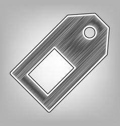 Price tag sign pencil sketch imitation vector