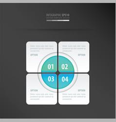 Rectangle presentation design neon blue vector