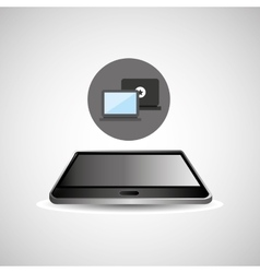 smartphone black lying laptop icon design vector image