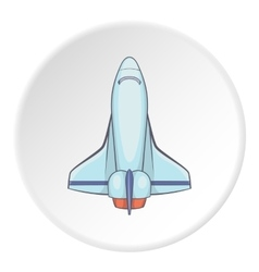 Space shuttle icon flat icon vector