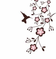 Spring cherry blossoms vector