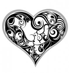 tattoo heart vector image vector image
