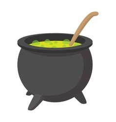 Witching vat cartoon icon vector