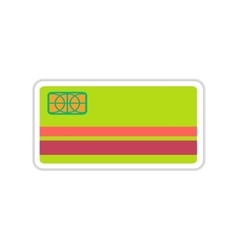 Paper sticker on white background bank card vector