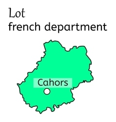 Lot french department map vector