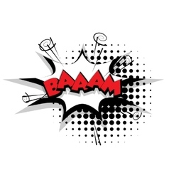 Comic text bam sound effects pop art vector