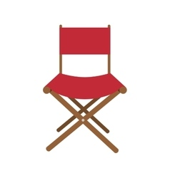 Director chair isolated icon vector