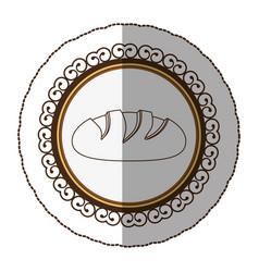 emblem silhouette nomal bread icon vector image