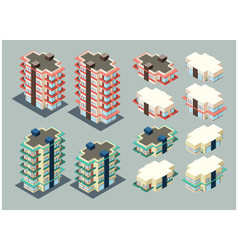 Isometric apartment vector