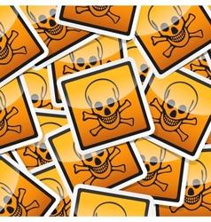 Sticker-danger-symbols vector