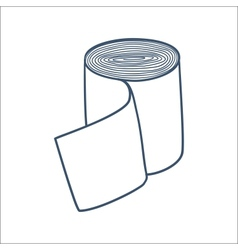 Bandage roll isolated on white vector