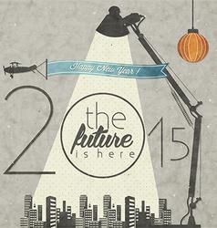 2015 celebration background vector image