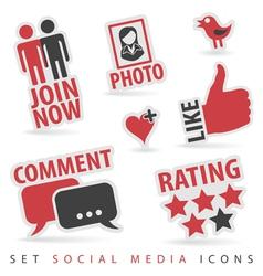 Set Social Media Icons vector image