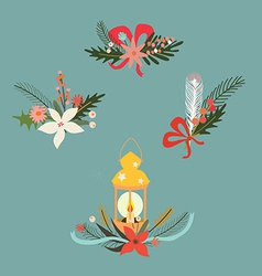 Holiday design set vector image