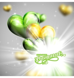 Carnival lettering label and balloons vector