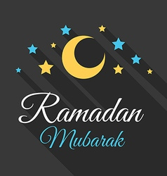 Ramadan mubarak greeting background vector
