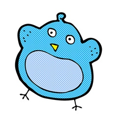 Comic cartoon fat bird vector