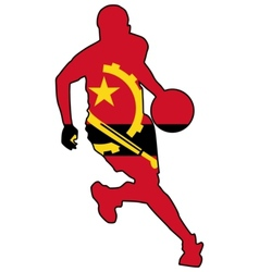basketball colors of Angola vector image