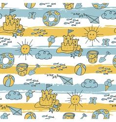 summer pattern beach vector image