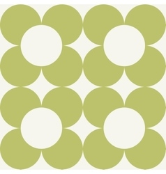 Seamless pattern with round flowers vector
